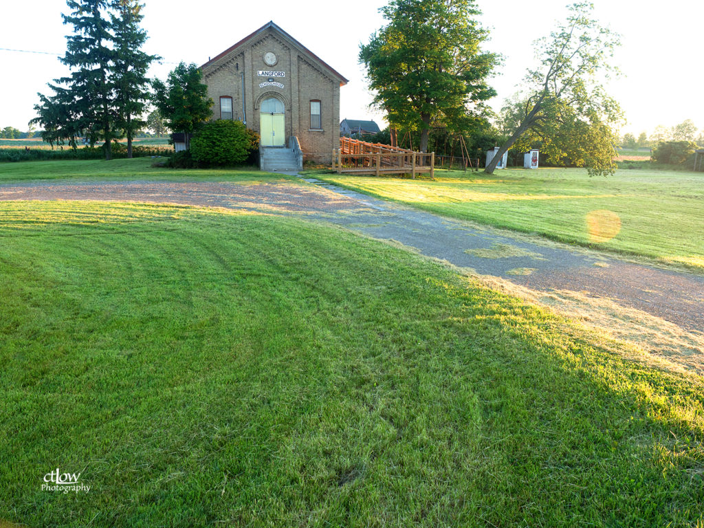 Langford Schoolhouse grounds and parking